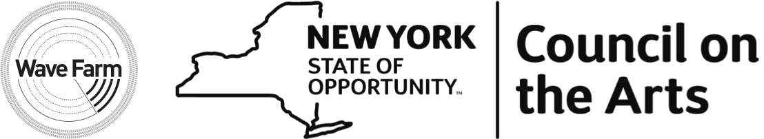 wave farm and NYSCA logo
